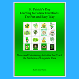 Green cover of St Patrick's day following directions activities