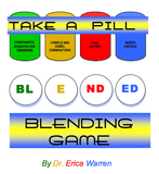 Colorful cover for a blending game using pill bottles