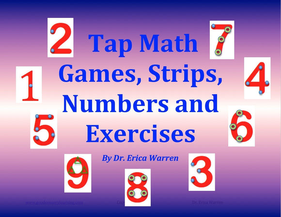 Tap Math Cover show numbers with tap marks