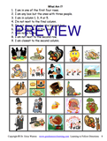 Thanksgiving activity following directions sample handout