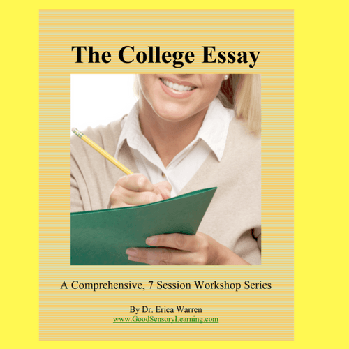 Image of a Student Writing on A College Essay Folder