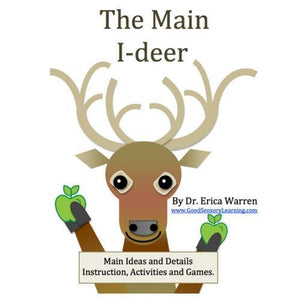 Publication cover of a deer holding apples for Main Idea and Detail publication