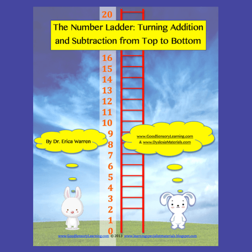 Bunnies teach adding and subtracting by using a ladder