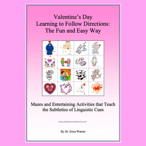Pink cover of Valentines Day Following Directions Activities