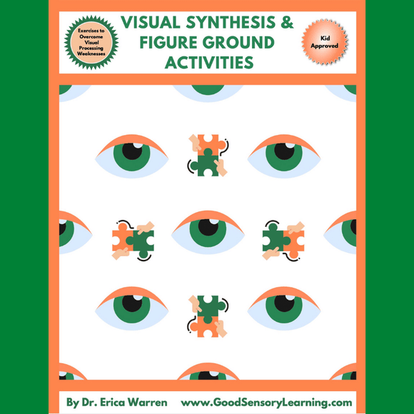 Visual Synthesis and Figure Ground Cover page with eyes and puzzle pieces