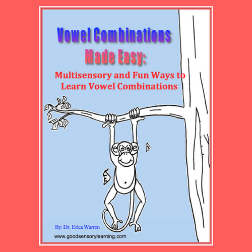 Vowel Combinations Made Easy Cover with Monkey