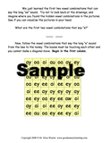 Sample maze page from Vowel Combinations Made Easy