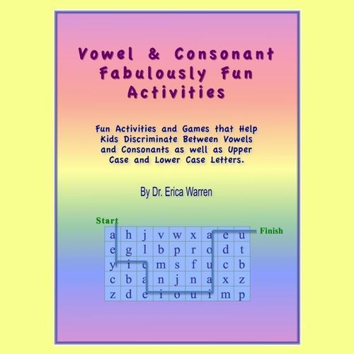 Colorful cover of Vowel and Consonant Fabulous Fun