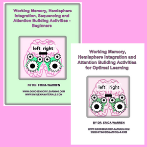 Bundle of Two Working Memory Workbooks