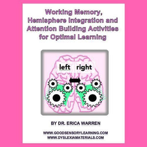 Cover of Working Memory, Hemisphere Integration, and Attention Building Activities with brain