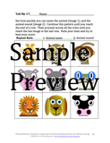 Working Memory Sample page with nine animal faces