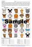 Working Memory game with animals in a grid