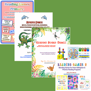 Image of Dr. Warren's 4 popular reading games publications
