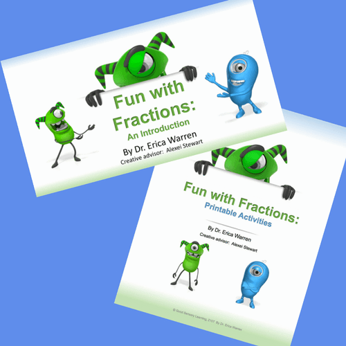 Cute alien creatures teach kids about fractions