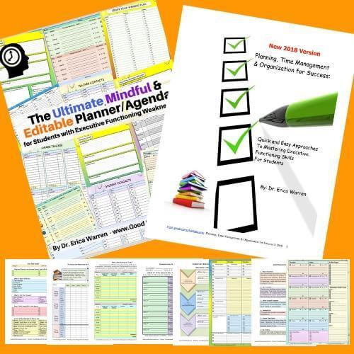 collage of pages from planning and time management publication