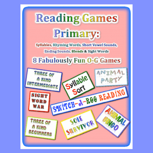 Colorful cover for reading games primary