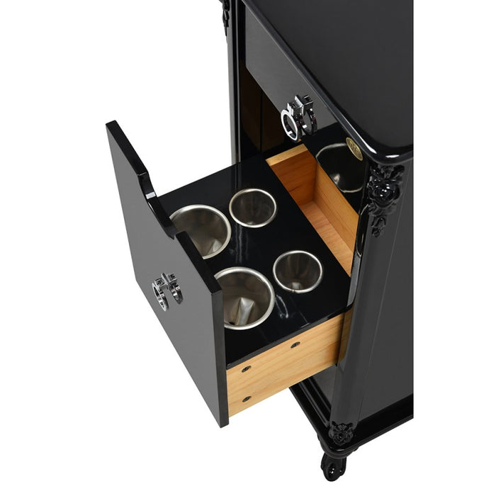 Black Florence Salon Trolley