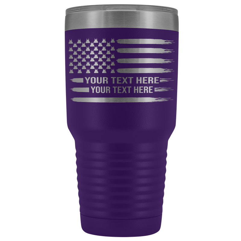 Pete Stars American Flag Your Text Here 30oz Tumbler Free Shipping