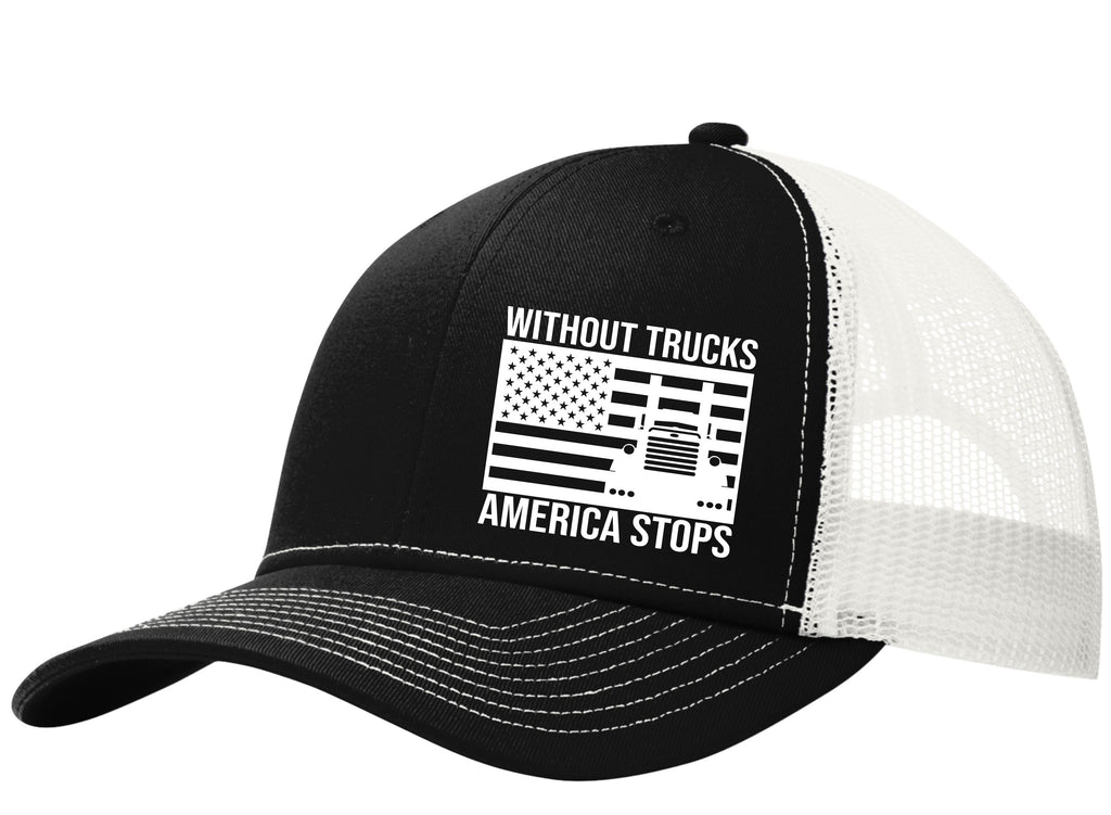 Without Trucks America Stops Pete Snapback Hat Free Shipping