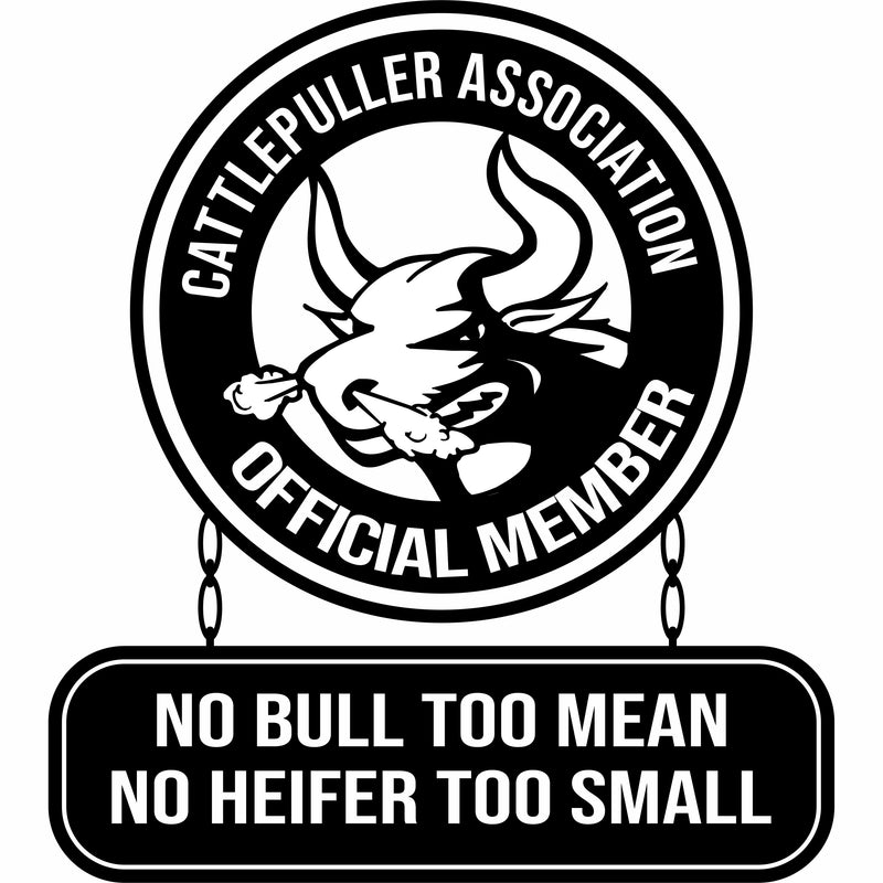 Cattlepuller Association Official Member Vinyl Decal