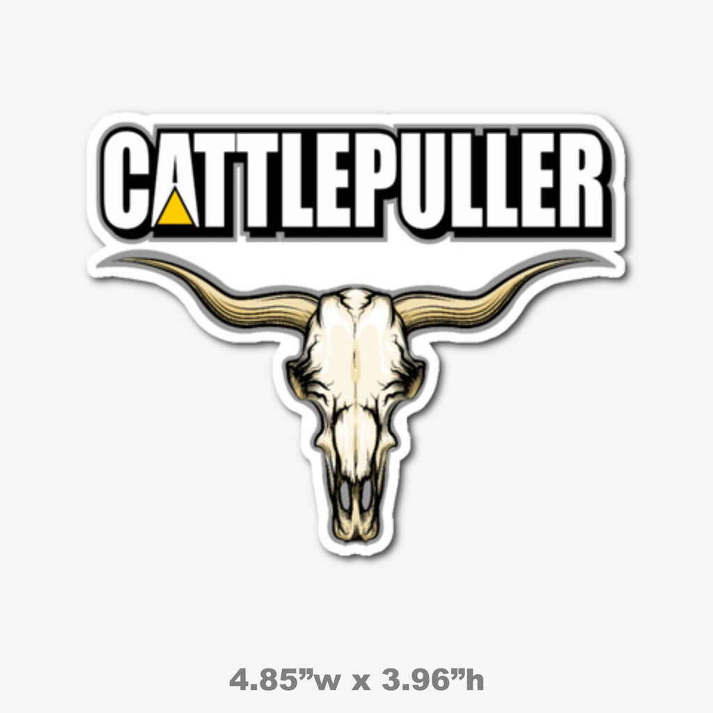 Cattlepuller Die Cut Decal Free Shipping