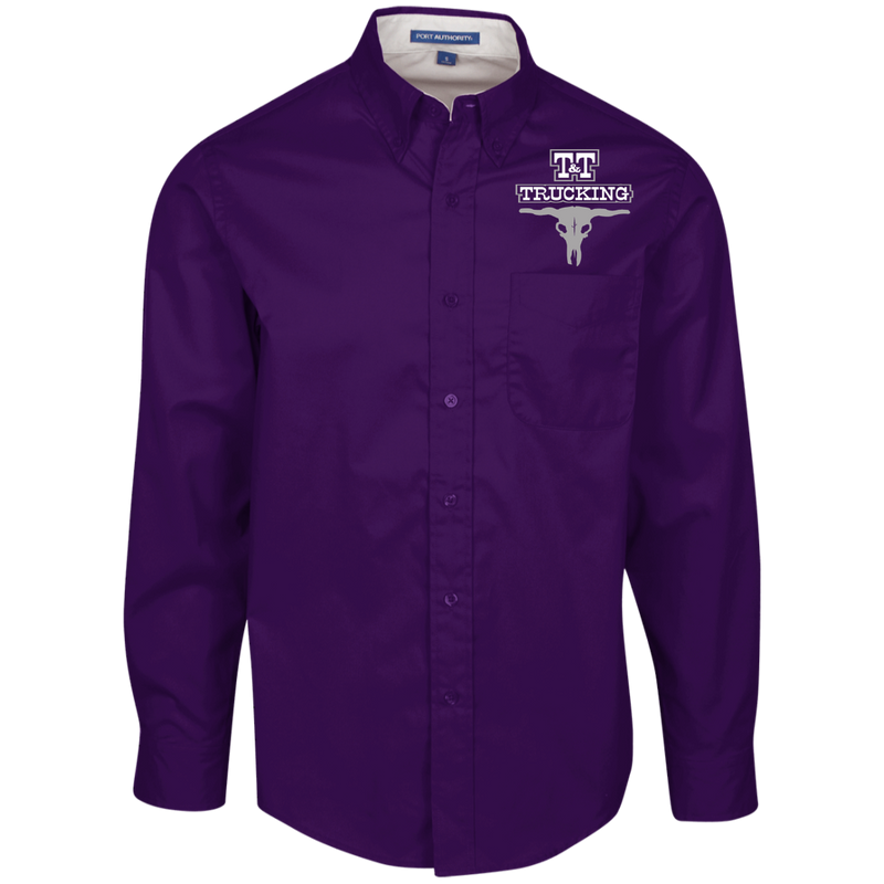 T&T Trucking S608 Port Authority Men's LS Dress Shirt