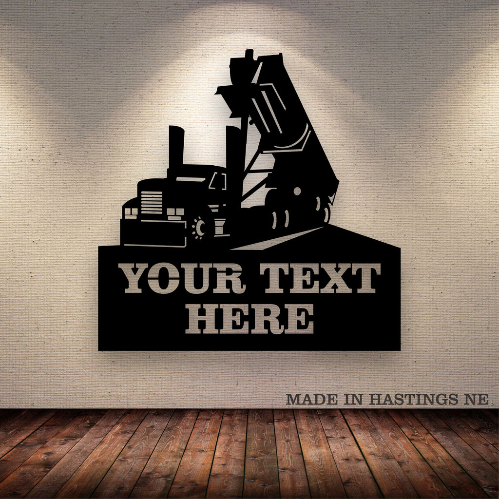 End Dump Your Text Here Metal Wall Art Free Shipping