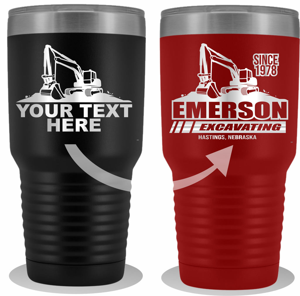 Excavator Your Text Tumbler 30oz Free Shipping