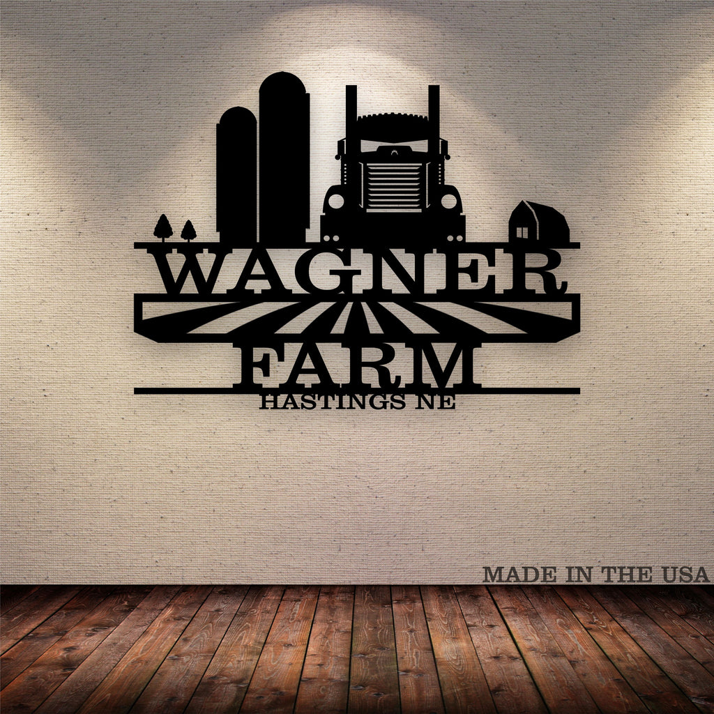 Grain Hauler KW Your Text Here Metal Wall Art Free Shipping