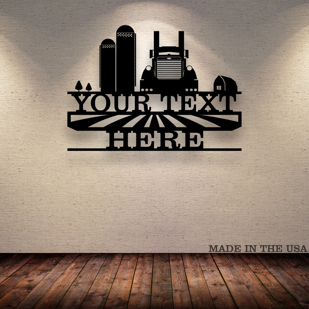 Grain Hauler Pete Your Text Here Metal Wall Art Free Shipping