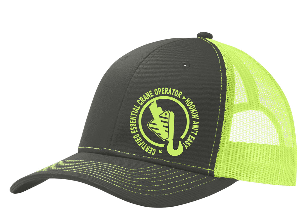 Certified Essential Crane Operator Mesh Back Hat Free Shipping