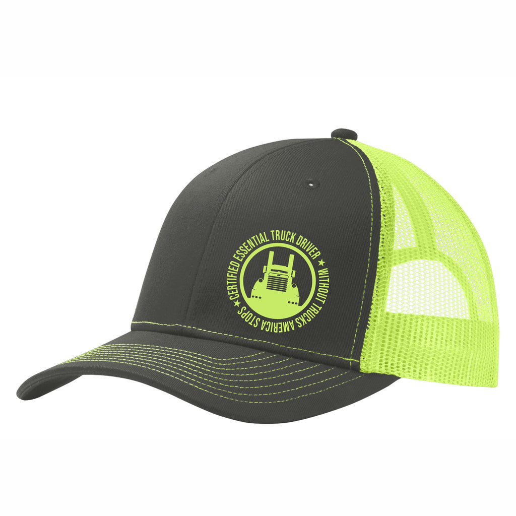 Certified Essential Truck Driver Mesh Back Hat Free Shipping