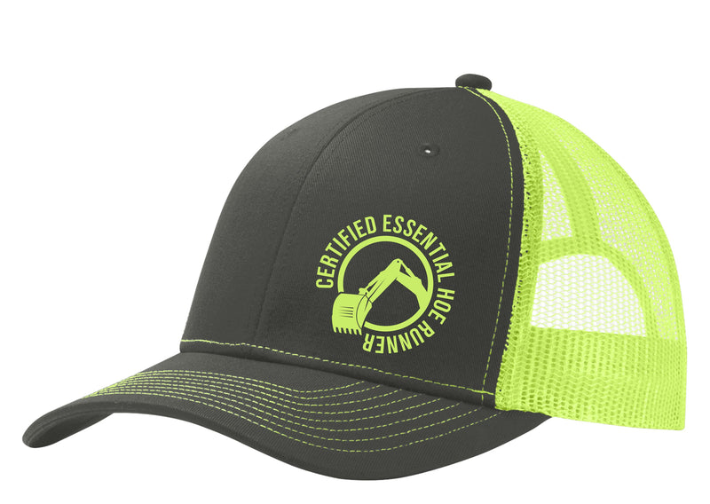 Certified Essential Hoe Runner 6 Panel Mesh Back Hat Free Shipping