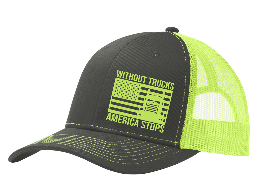 Without Trucks America Stops KW Snapback Hat Free Shipping