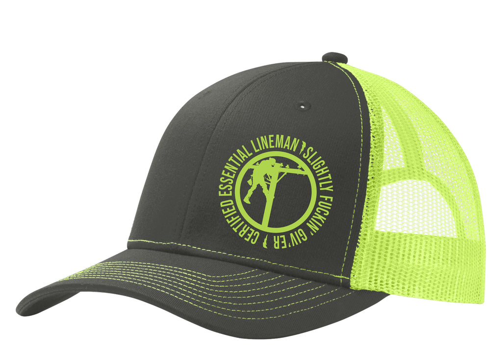 Certified Essential Lineman Mesh Back Hat Free Shipping