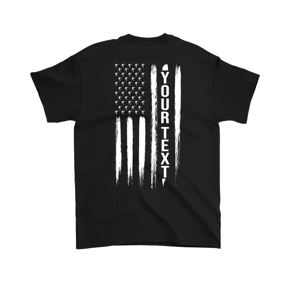 Linemen Stars American Flag Your Text