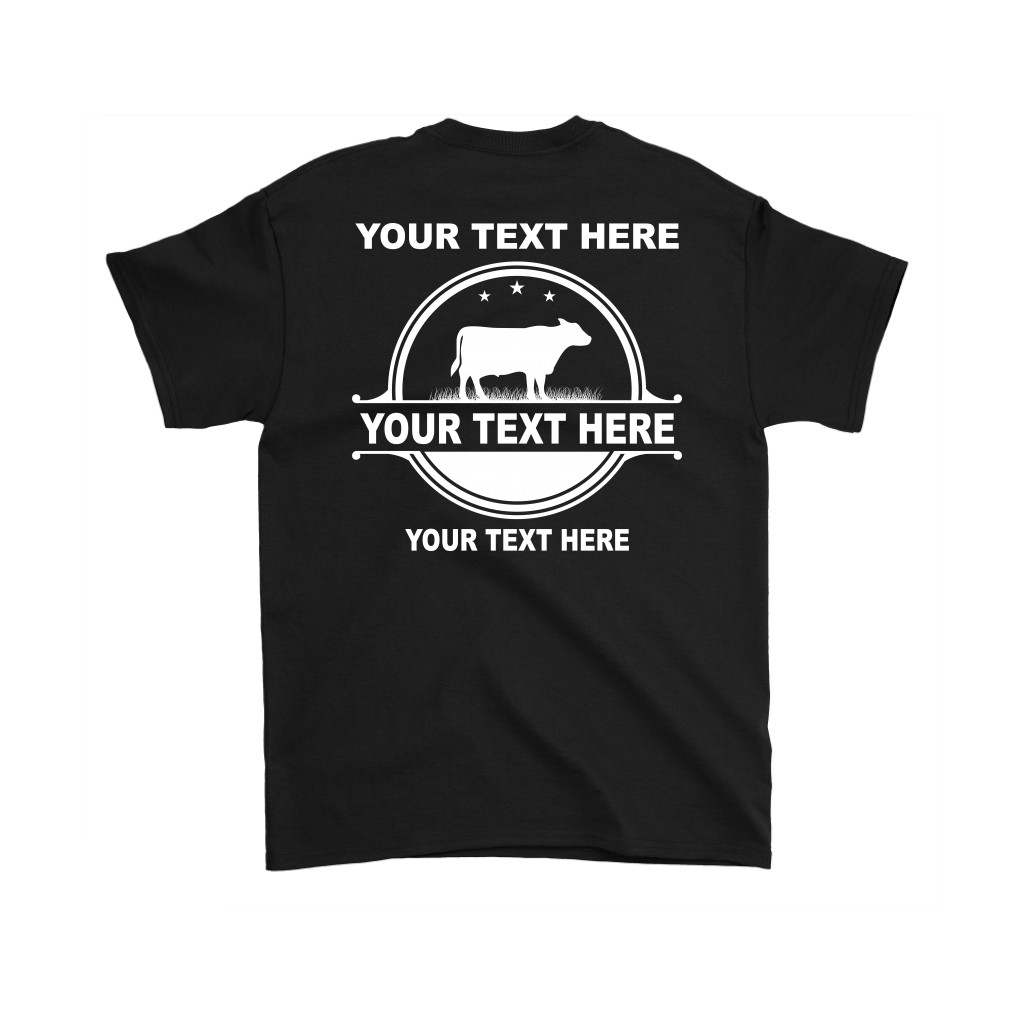 Cattle Ranchers-Farmers Your Text Here Pocket T-Shirt