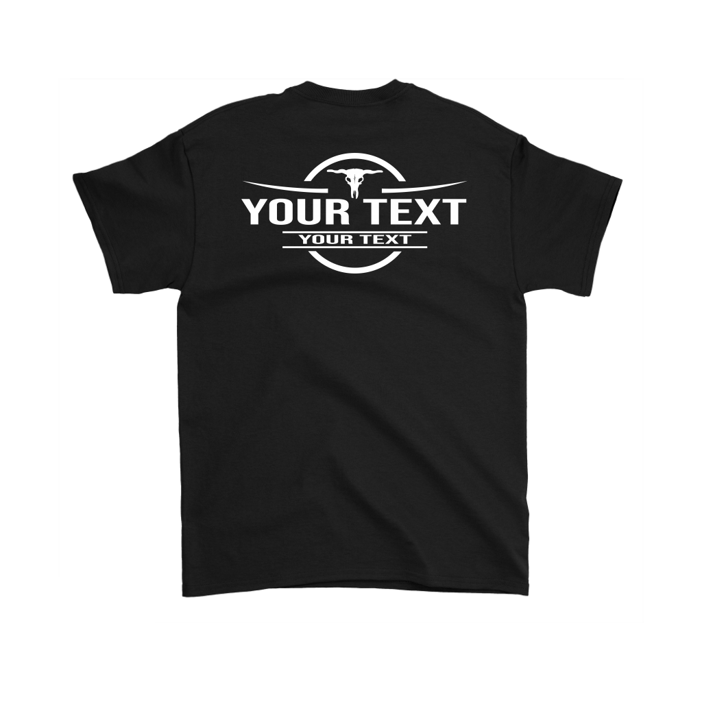 Bull Skull Your Text Here Pocket T-Shirt