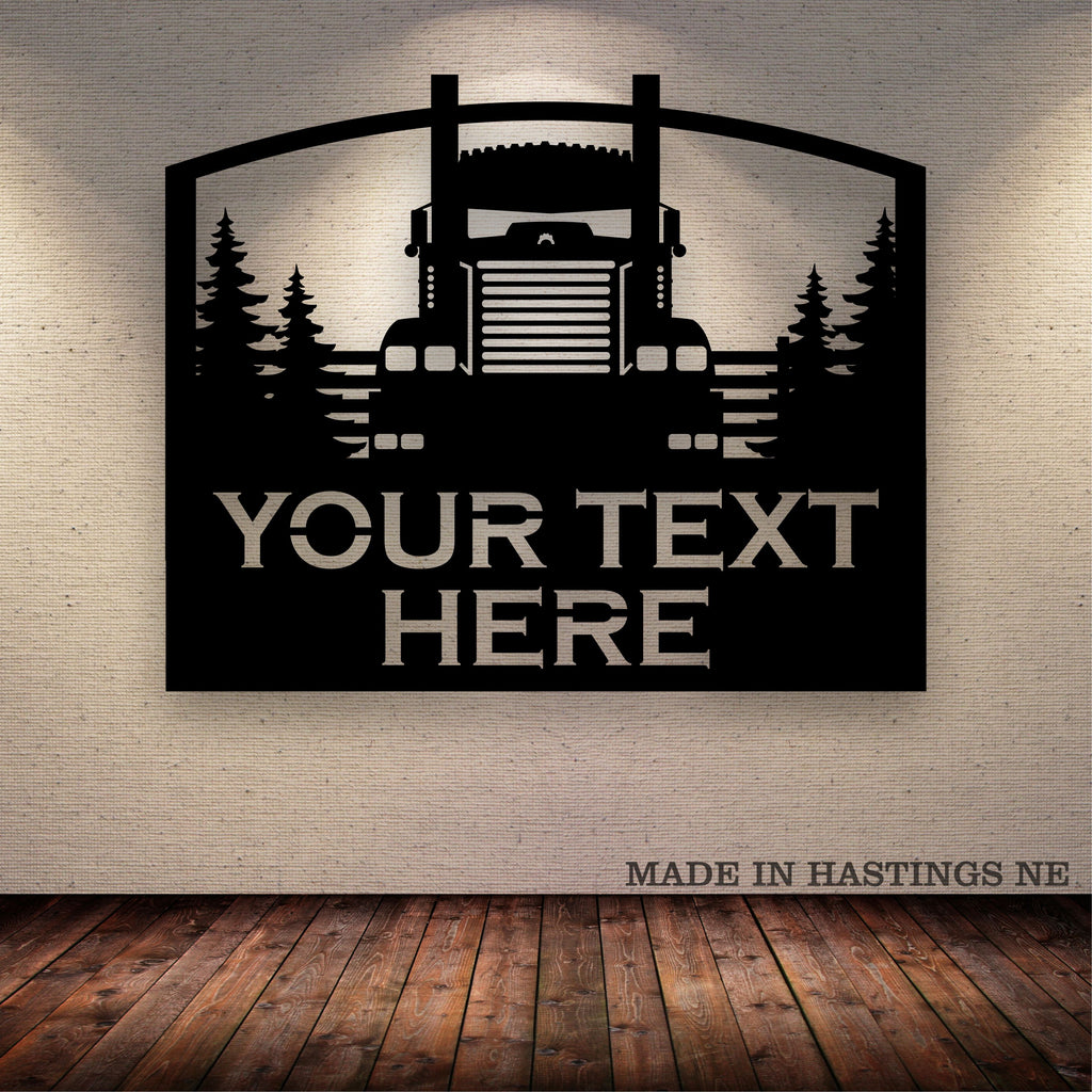 KW Fence Trees Your Text Here Metal Wall Art Free Shipping