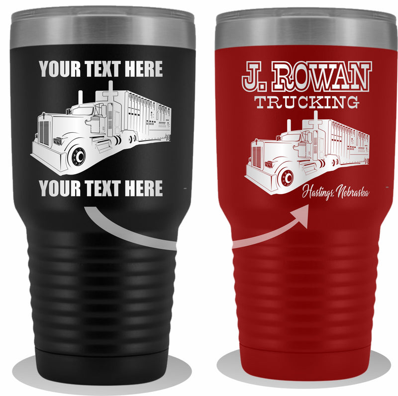 Bull Hauler KW Your Text Here 30oz. Tumbler Free Shipping