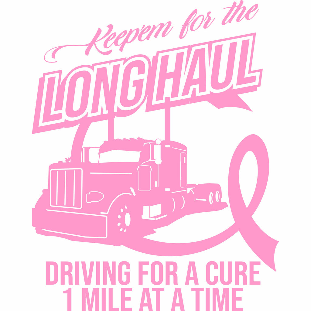 Keep'em for the Long Haul Breast Cancer Decal Free Shipping