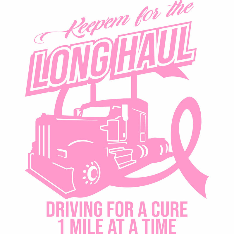 Keep'em for the Long Haul KW Breast Cancer Decal Free Shipping