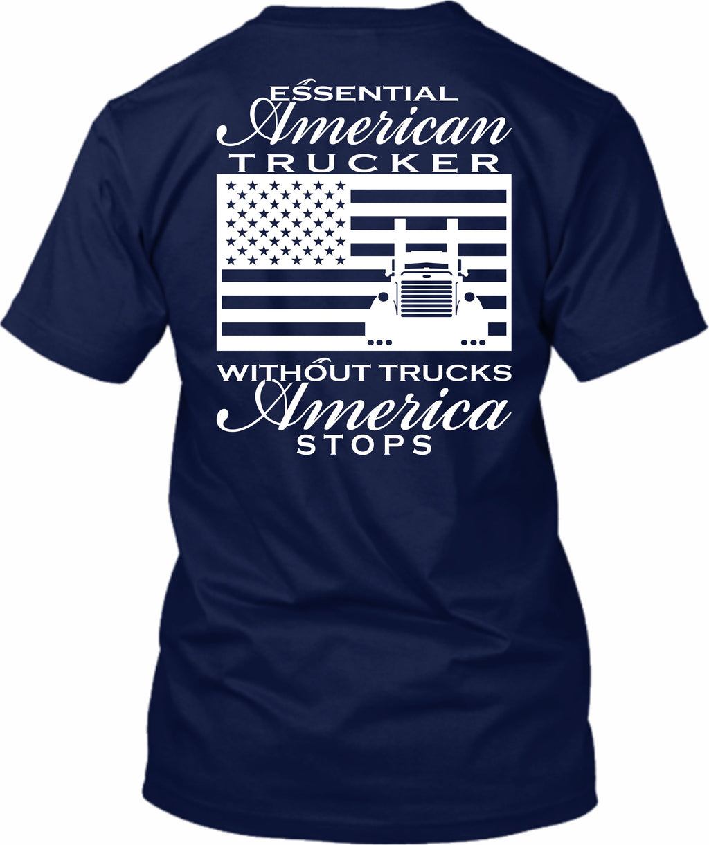 Essential American Trucker Pete American Flag