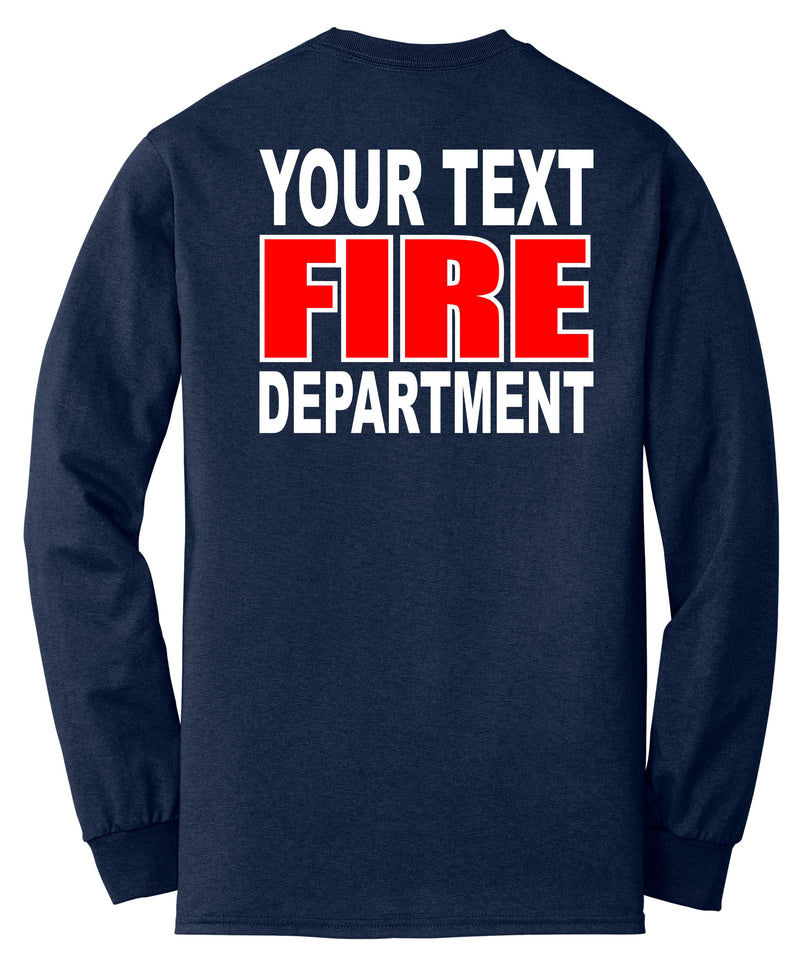 Fire Department Your Text Here Apparel