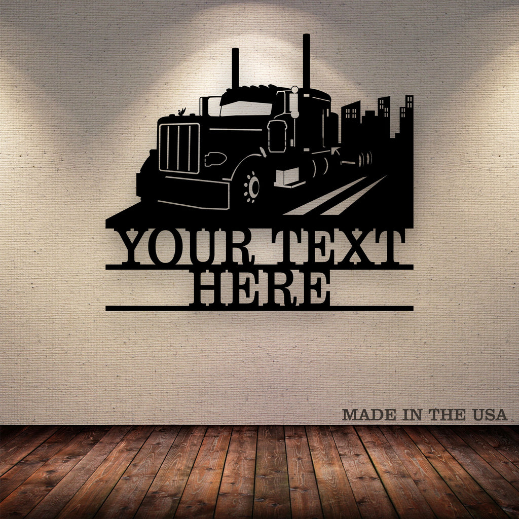 Pete 379 City Your Text Here Metal Wall Art Free Shipping
