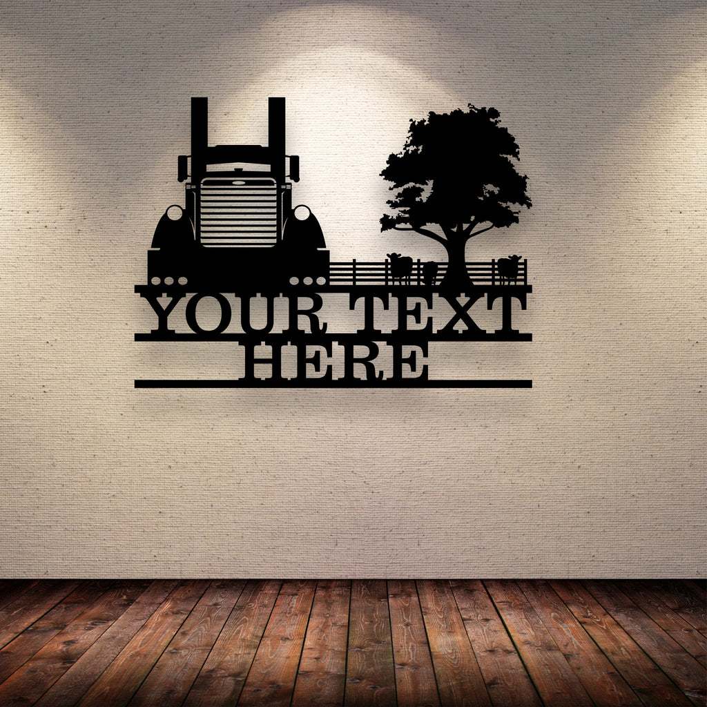 Pete Fence Cattle Tree Your Text Here Metal Wall Art Free Shipping