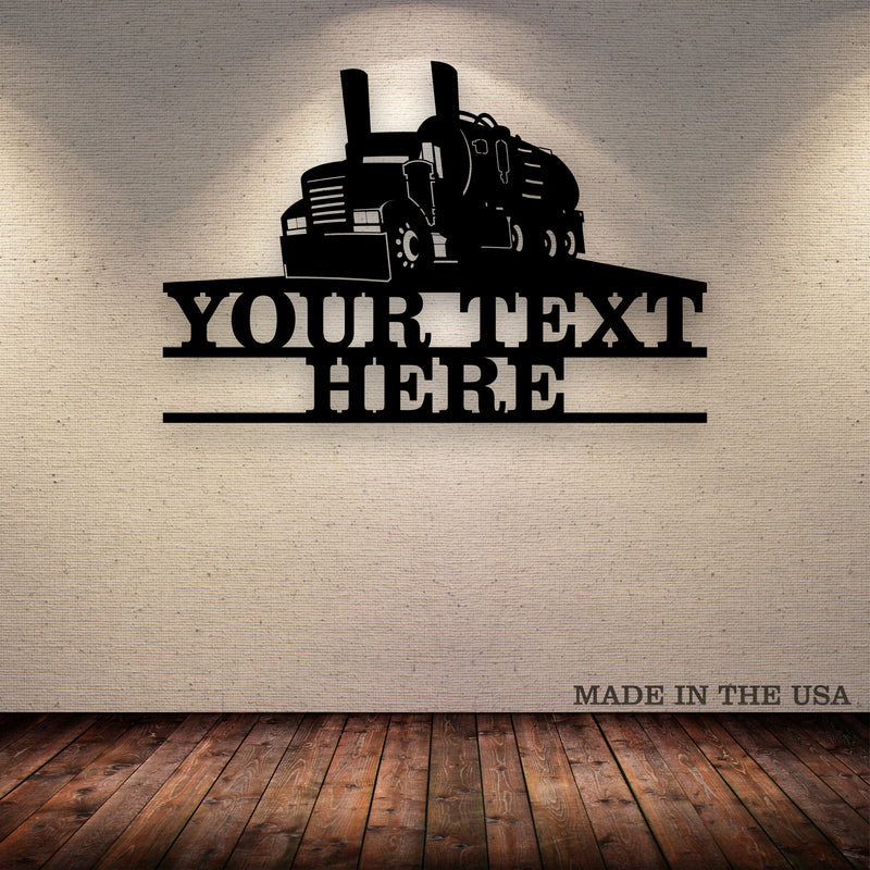 Vac Septic Truck Your Text Here Metal Wall Art Free Shipping