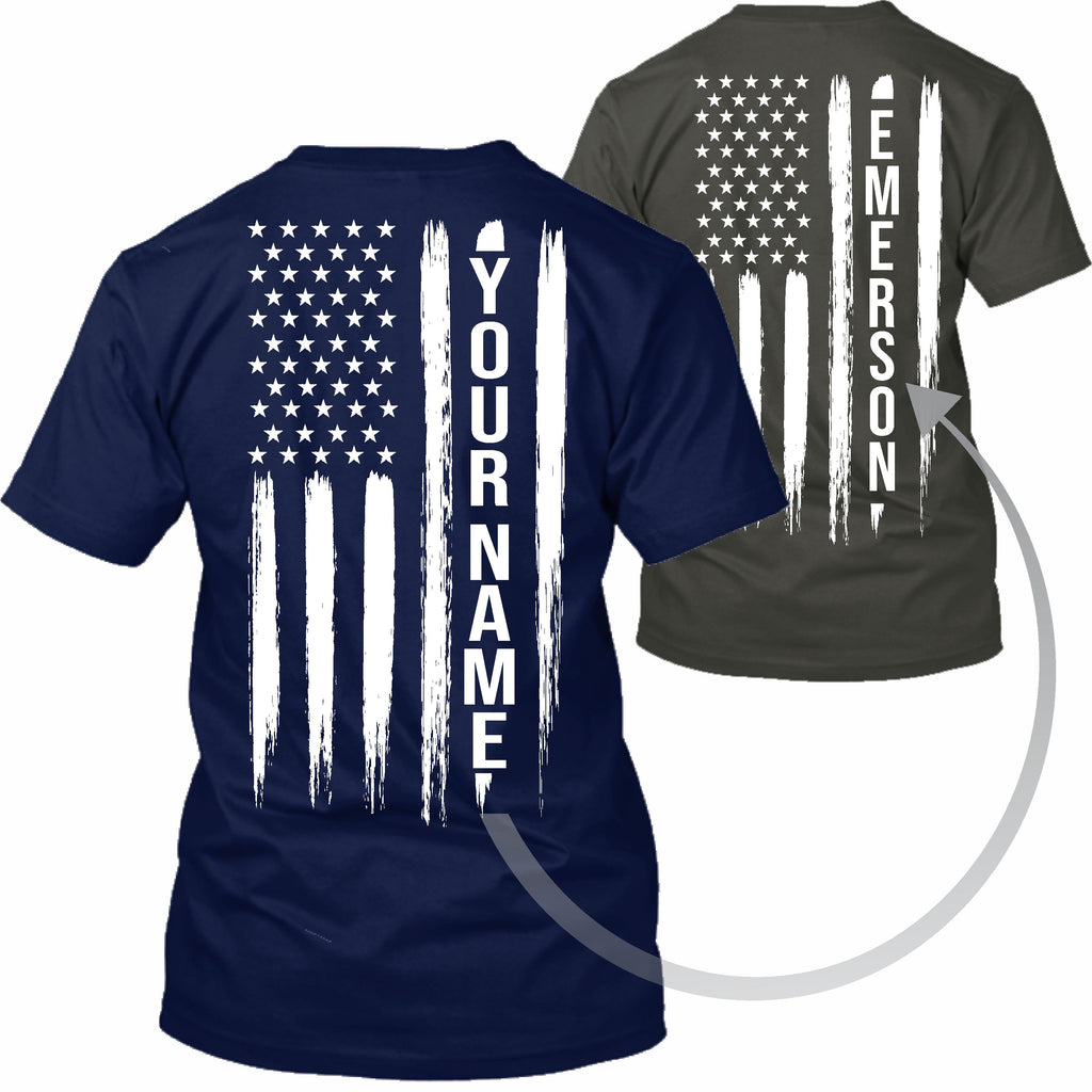 American Flag Your Name Apparel