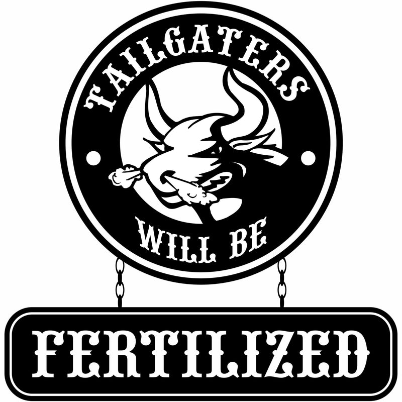 Bull Hauler Tailgaters Will Be Fertilized Vinyl Decal Free Shipping