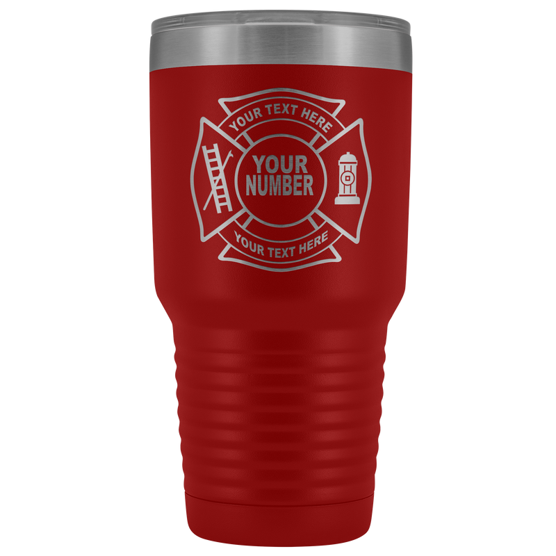 Fire Department Your Text Here Tumbler